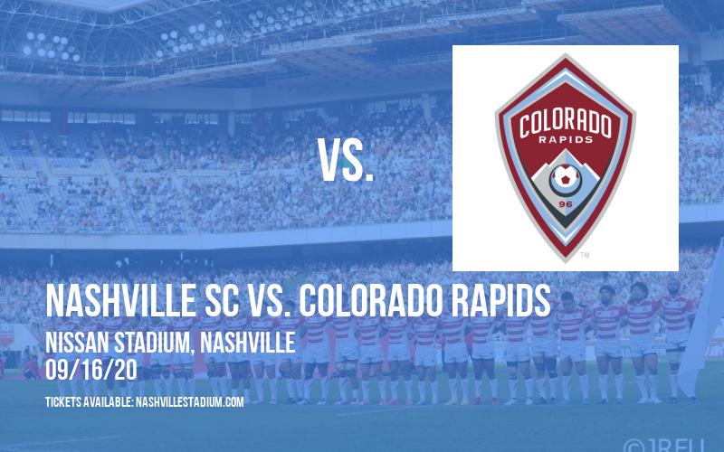 Nashville SC vs. Colorado Rapids [CANCELLED] at Nissan Stadium