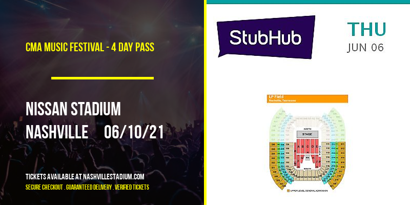 CMA Music Festival - 4 Day Pass at Nissan Stadium